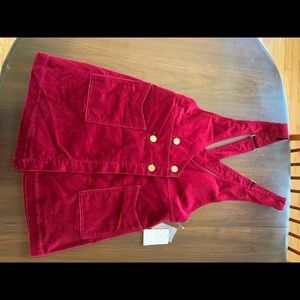Free People Canyonlands Cord Jumper in Red 10